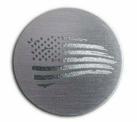 Image of Distressed American Flag Dial Shift Knob Trim For 2015+ Dodge Vehicles - 1