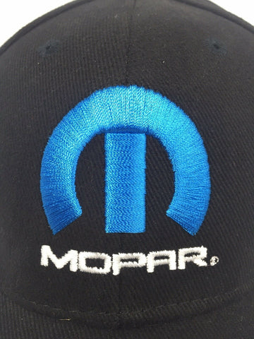 "Image of Mopar Hat / Cap - Black W/ Blue ""M"" Logo / Emblem (Licensed) - 1"