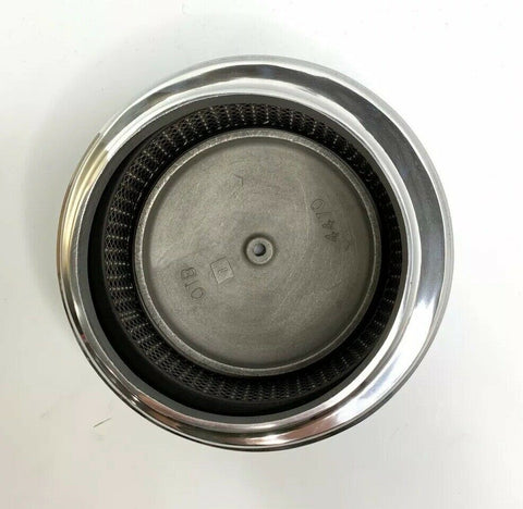 "Image of Polished Half Finned Aluminum Air Cleaner - 4 Barrel 6-3/8"" Show Quality - 6"