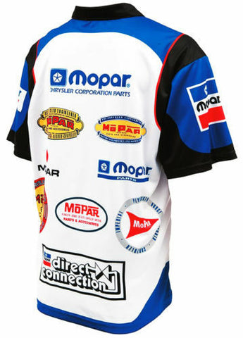 Racing Pit Style Button Up Shirt w/ Embroidered Mopar Logo / Emblem - 1
