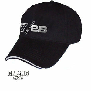 Chevy Camaro Z/28 Hat - Black w/ Chrome Liquid Metal Emblem - Main