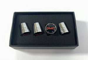 GMC Valve Stem Caps - Tapered Chrome w/ Black - Main