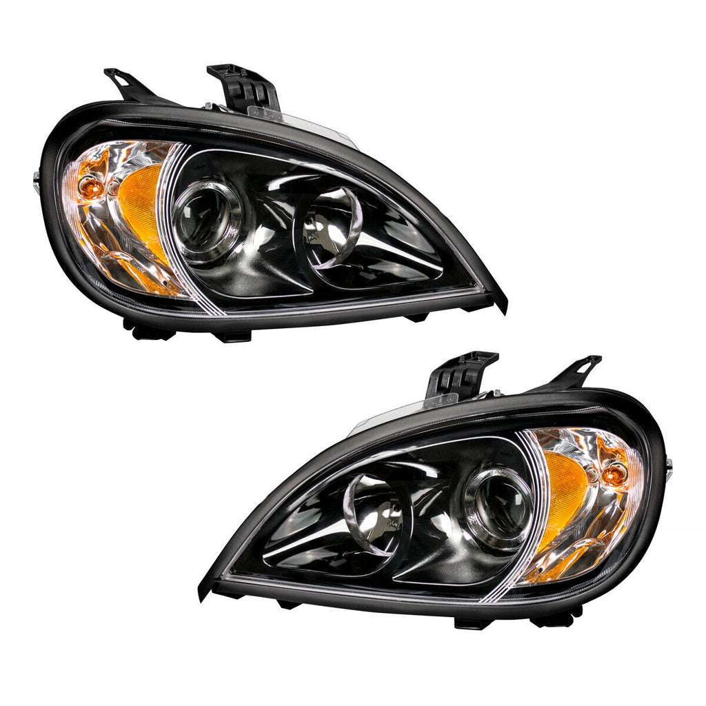Pair of Blackout Projection Headlights for 1996-2018 Freightliner Columbia - 1