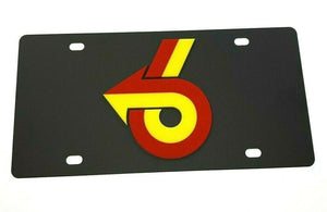 Buick Grand National Emblem Vanity License Plate - Black