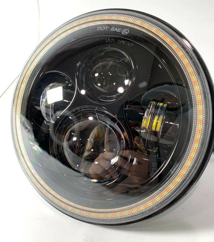Image of 2007-18 Jeep Wrangler JK Switchback LED Halo Headlights - DRL & Turn Signal - 3