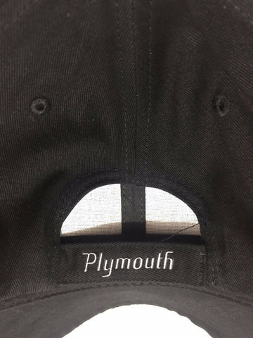 Plymouth Cuda Hat - Black w/ Chrome Liquid Metal Emblem - Back