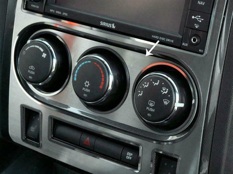 Image of Brushed Stainless Steel A/C Control Trim for 2008-2014 Dodge Challenger RT/SRT