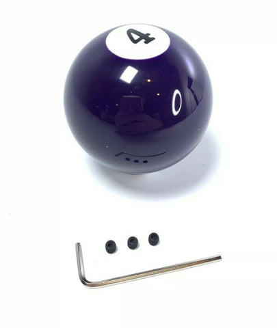 Pool Ball Gear Shift Knob (Purple Solids, Number 4)-Live Fast Supply Company