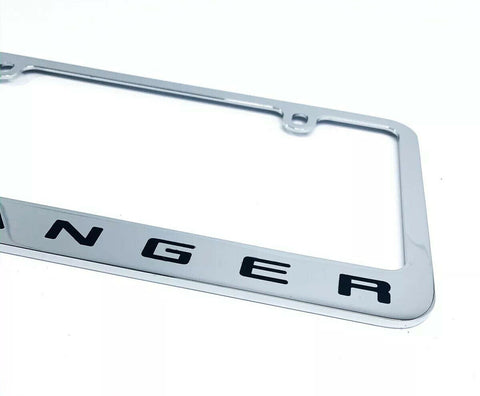 Ford Ranger Premium Chrome License Plate Frame w/ Blue Oval Emblem - 3
