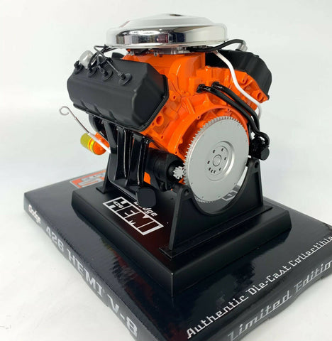 Model Engine 1:6 Scale Replica Diecast Of Orange Dodge HEMI 426 Motor - 7