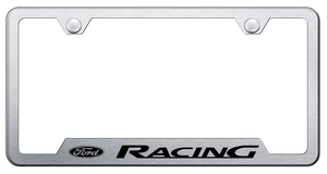 Ford Racing Stainless Steel License Plate Frame - Brushed-Live Fast Supply Company