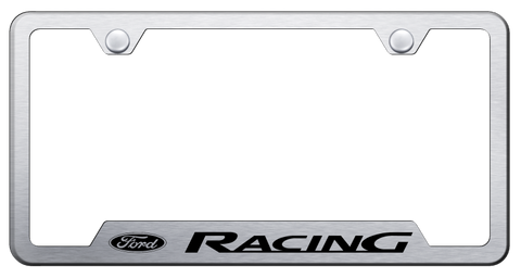 Image of Ford Racing Stainless Steel License Plate Frame - Brushed-Live Fast Supply Company