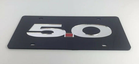 Ford 5.0 Mustang Acrylic License Plate - Black-Live Fast Supply Company