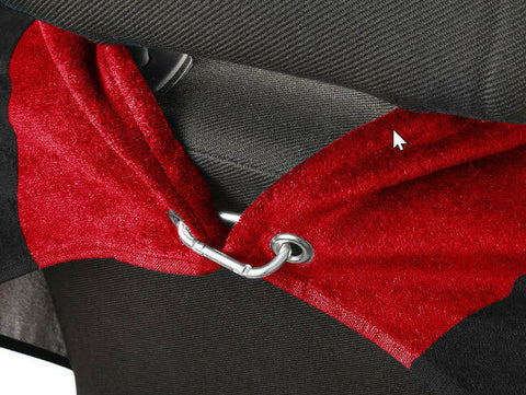Pair of Jeep Seat Cover Towels - Red & Black Universal Seat Protectors - 1