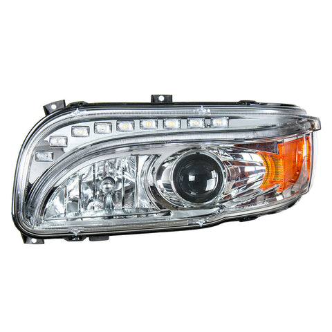 Pair of Projection Headlights with LED Light Bar & Turn Signals for Peterbilt 388/389 - 7