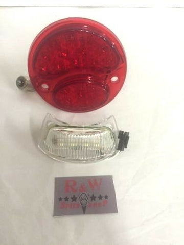 Pair of Ford Model A Tail Light 6V LED Conversion Inserts - Driver & Passenger Side - 1928-1931 - License Plate Light