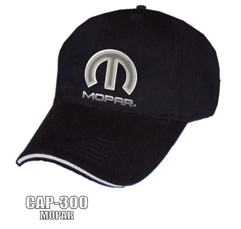 Image of MOPAR Hat - Black w/ Chrome Liquid Metal Emblem - Front
