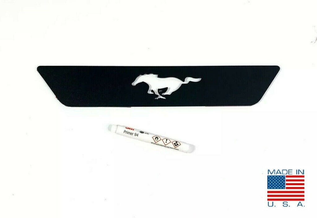 2015-2019 Ford Mustang Pony Emblem Reverse Light Black Billet Decal / Overlay - 1