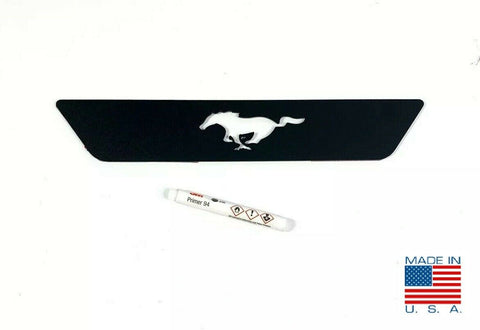 Image of 2015-2019 Ford Mustang Pony Emblem Reverse Light Black Billet Decal / Overlay - 1