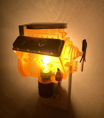 Chevy Night Light - Orange Corvette Big Block 427 Engine Replica - 1