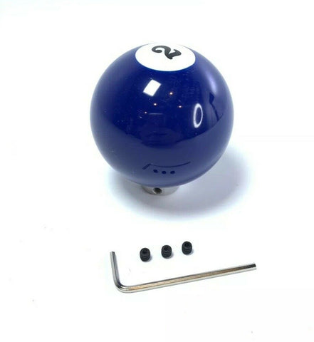 Image of Pool Ball Gear Shift Knob (Blue Solids, Number 2)-Live Fast Supply Company