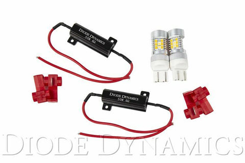 Image of LED Turn Signal For 2018-19 Jeep Wrangler (Switchback Amber White W/ Resistors) - Kit