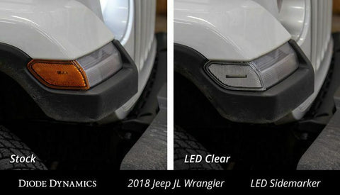 2018-2019 Jeep Wrangler & 2020 Gladiator LED Clear Lens Turn Signals
