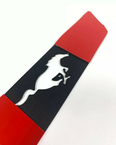 Image of 2015-2019 Ford Mustang Pony Emblem Reverse Light Black Billet Decal / Overlay - 5