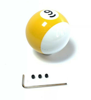 Pool Ball Gear Shift Knob (Stripes Yellow, Number 9)-Live Fast Supply Company