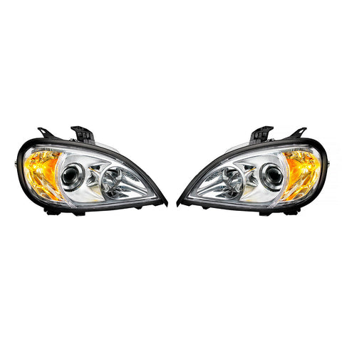 Image of Pair of Chrome Projection Headlights for 1996-2018 Freightliner Columbia - 5
