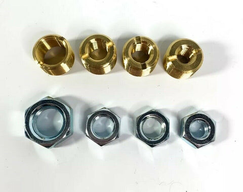 Image of Brass Shift Knob Adapter Kit 16mm x 1.5mm To US Standard Threads - 1