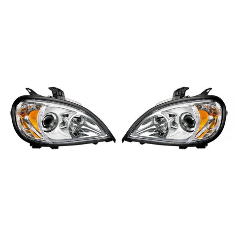 Image of Pair of Chrome Projection Headlights for 1996-2018 Freightliner Columbia - 4