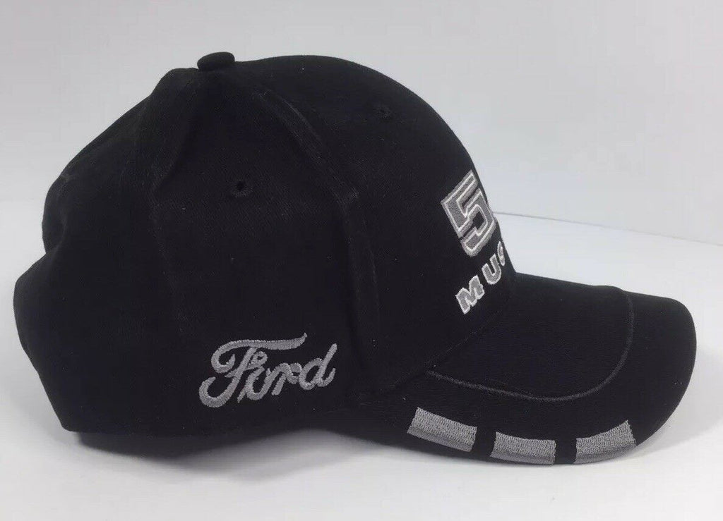 Ford Mustang Hat - Black w/ Gray 5.0 GT - Right