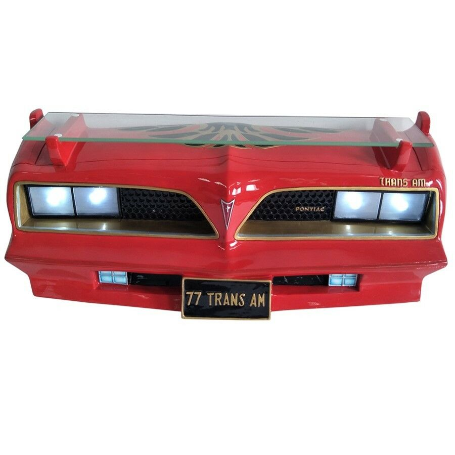 1977 Pontiac Firebird Red & Gold Wall Shelf Front End with Working Headlights-Live Fast Supply Company
