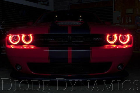 Image of Pair LED Halos for 2015-2019 Dodge Challenger - Multi Color w/ Bluetooth Control - 1