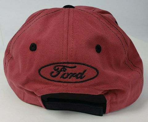 Image of New 2021 Ford Bronco Hat / Cap - Brick Red w/ Embroidered Black Emblem & Script - 3