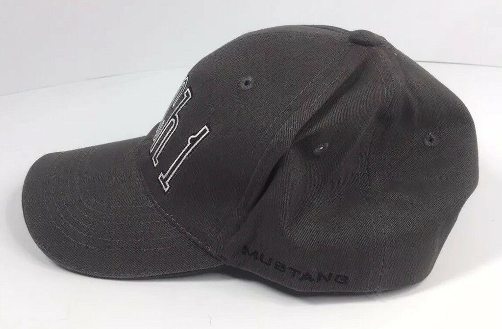 Ford Mustang Hat - Mach 1 Gray with Pony Tri Bar Logo - Left