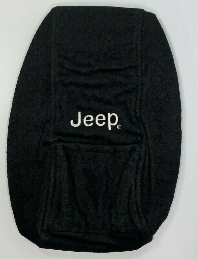 Jeep Grand Cherokee Armrest Console Cover Pad - Black for 2011-2018 - Front