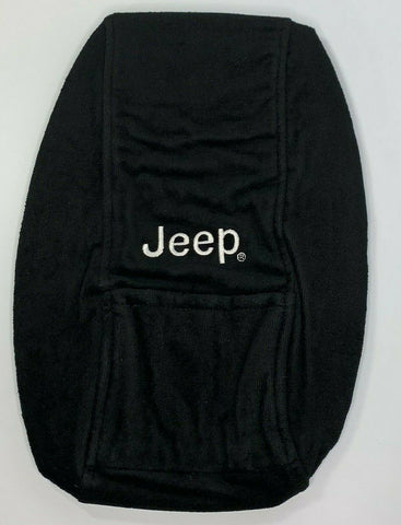 Image of Jeep Grand Cherokee Armrest Console Cover Pad - Black for 2011-2018 - Front