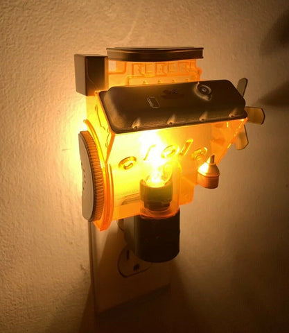 Chevy Night Light - Orange Corvette Big Block 427 Engine Replica - 3