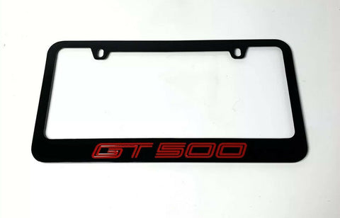 Image of Mustang Shelby GT500 Black License Plate Frame (Premium Engraved Letters) - 9