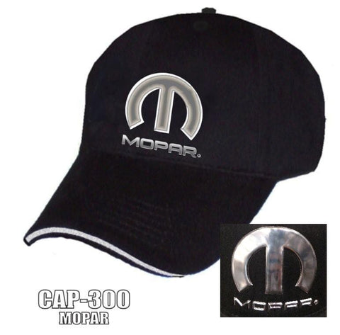 Image of MOPAR Hat - Black w/ Chrome Liquid Metal Emblem - Main