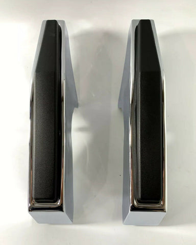 Image of Pair of Chrome Front Bumper Guards For 1981-1987 Chevy & GMC Pickup Truck
