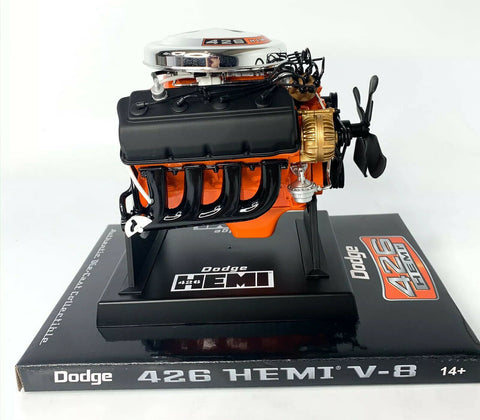 Model Engine 1:6 Scale Replica Diecast Of Orange Dodge HEMI 426 Motor - 5