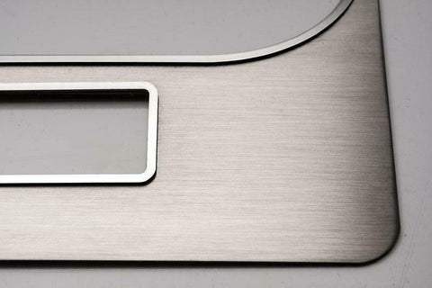 Image of Brushed Stainless Steel Center Dash Trim for 2008-2014 Dodge Challenger RT/SRT - 3