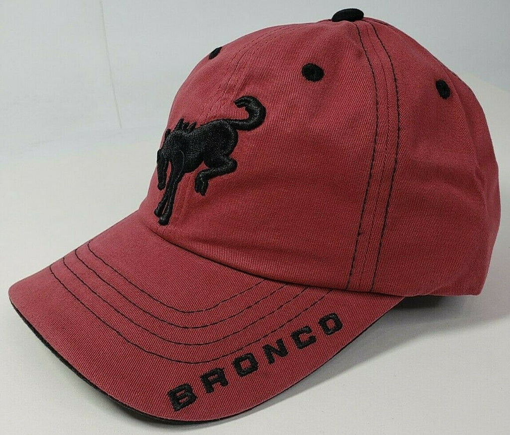 New 2021 Ford Bronco Hat / Cap - Brick Red w/ Embroidered Black Emblem & Script - 2