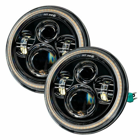 Image of 2007-18 Jeep Wrangler JK Switchback LED Halo Headlights - DRL & Turn Signal - 2