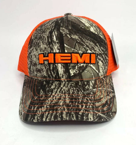 Dodge HEMI Hat / Cap - Hunters Camo w/ Orange Emblem - 1