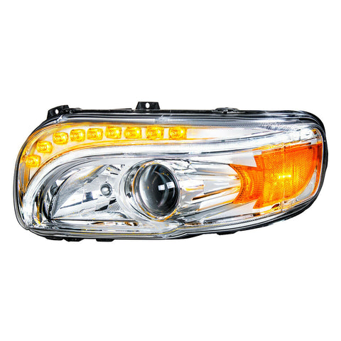 Pair of Projection Headlights with LED Light Bar & Turn Signals for Peterbilt 388/389 - 4