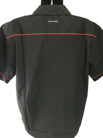 Image of Mechanic Style Button Up Shirt w/ Dodge Emblem / Logo (Licensed) - 2